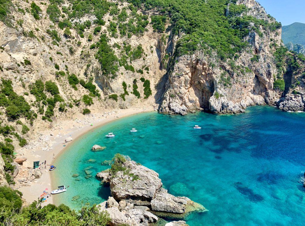 Foto albums Corfu Giali beach op Corfu in Griekenland